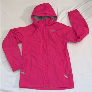 Girls The North Face rain jacket Size XL Pink